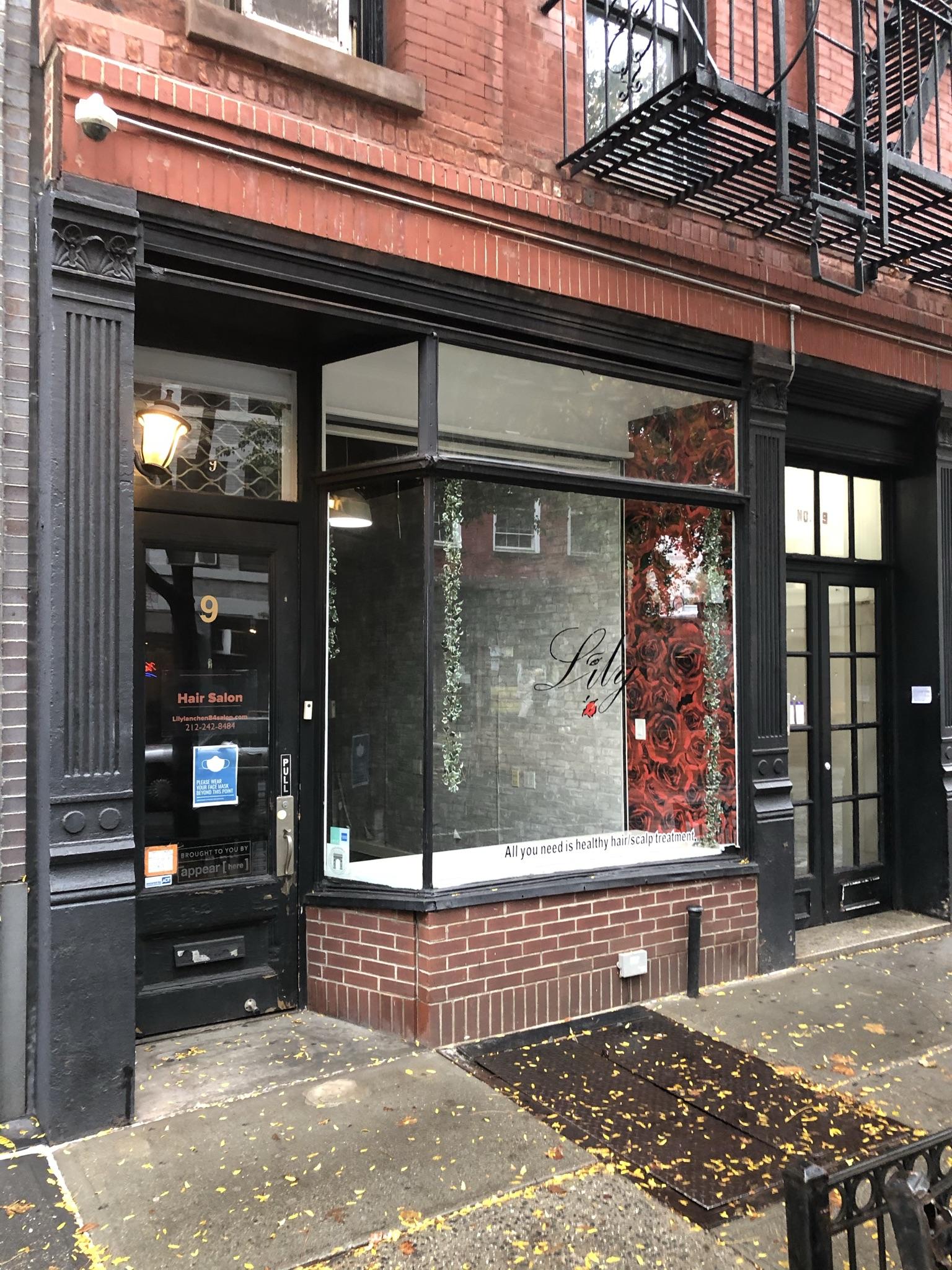 Rent Reduced!  West Village Retail / Salon Space